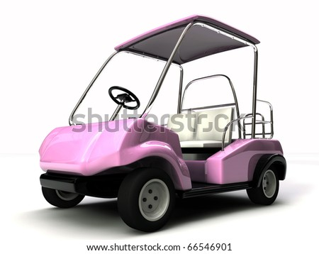 golf cart isolated on white background