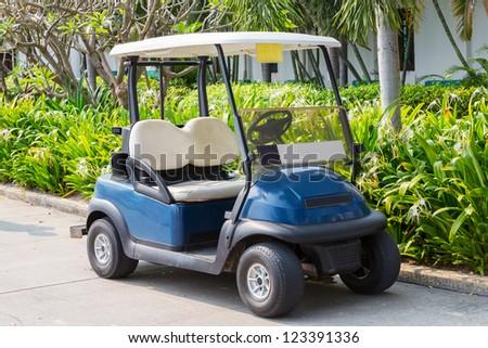 Golf cart or club car at golf course