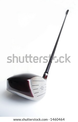 golf club driver on white - stock photo