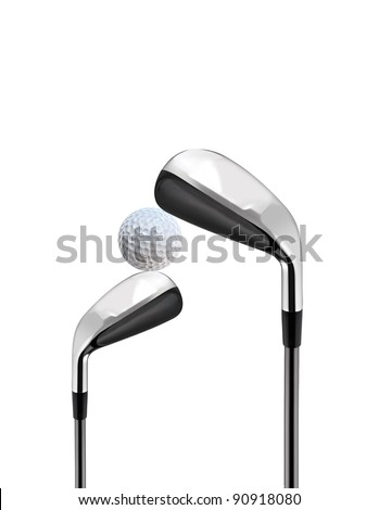Golf Clubs isolated on white