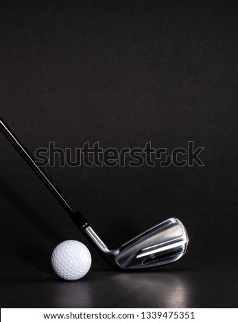 Golf clubs with ball
