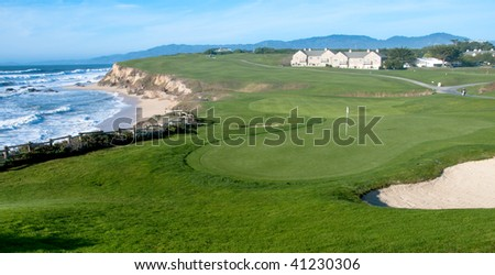 Golf course by the ocean