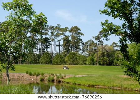 golf course florida usa - stock photo