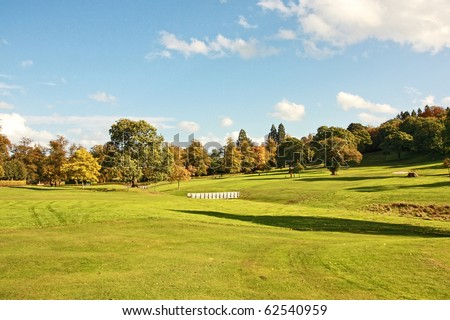 Golf Course in Falkirk Park, Scotland