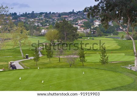 Golf course in retirement community. California, USA