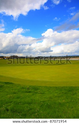 Golf course in St Andrews, Scotland