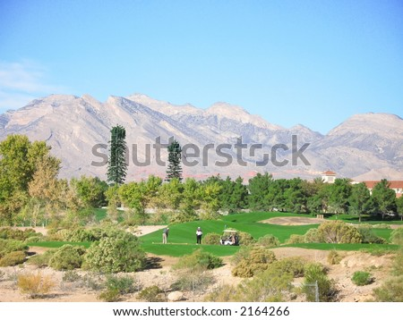 Golf course in the desert southwest