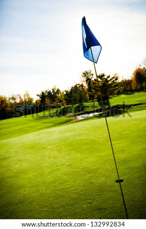 Golf course on abeautiful summer day