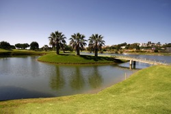 Golf course on Algarve, Portugal
