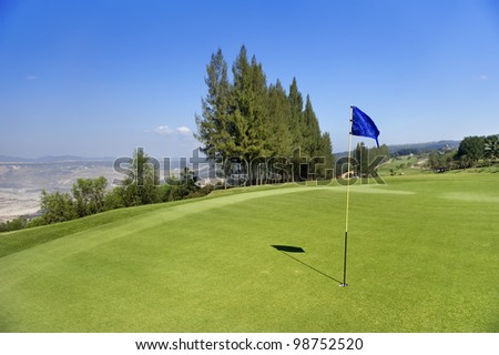 golf course on hill
