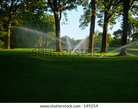 Golf course sprinklers