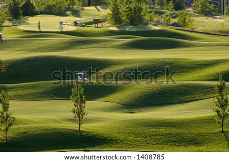 Golf course view, sunset