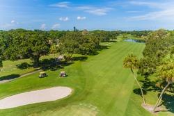 Golf course vista in Florida