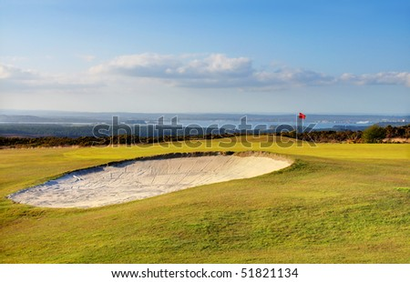 Golf course with a beautiful view of the ocean - Studland, Dorset (UK)