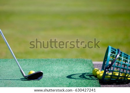Golf, driving range #630427241