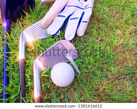 Golf equipment, check equipment, golf competition On the green field