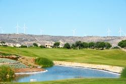 Golf field in Cyprus mountain village.
