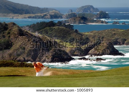 Golf - From the sand trap