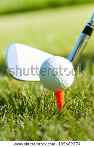 golf game on course