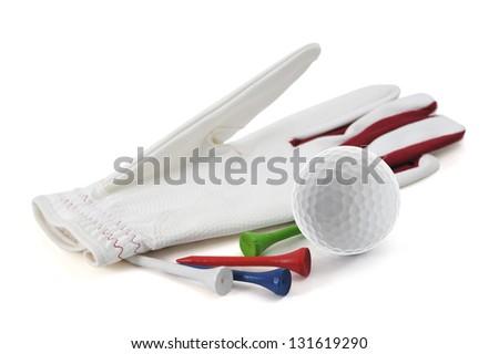 Golf Glove, tee, ball