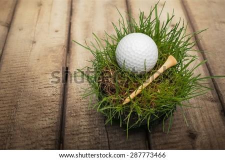 Golf, Golf Ball, Tee.