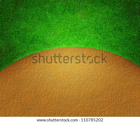 Golf Grass and Sand Background