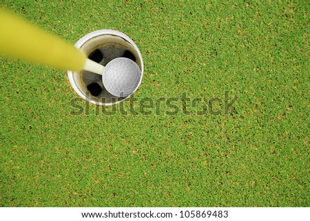 golf hole in one