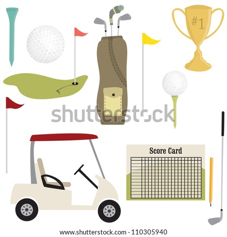 Golf images set