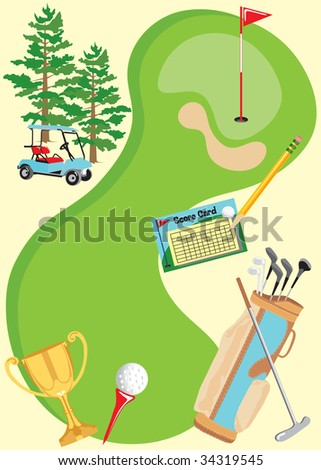 Golf Invitation Poster for a party or golf tournament