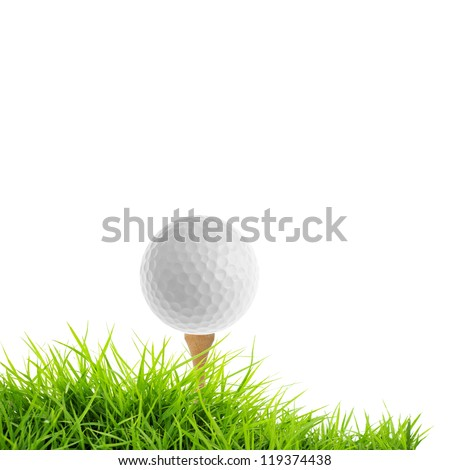 golf isolated on white - stock photo
