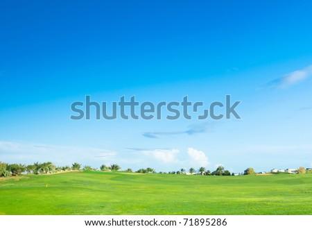 Golf Landscape Under Sun