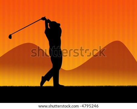 golf player, illustration