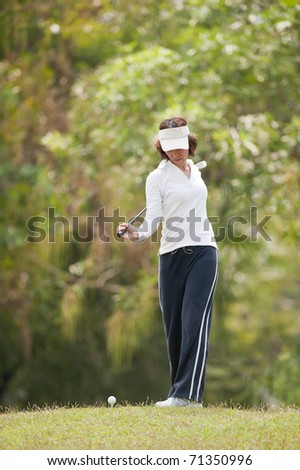 Golf Player Woman