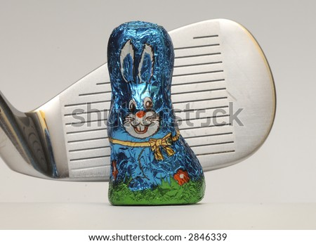 Golf rabbit easter chocolate