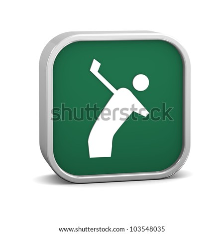 Golf sign on a white background. Part of a series.