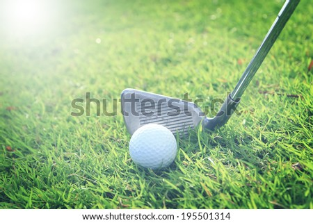 golf sport with soft focus