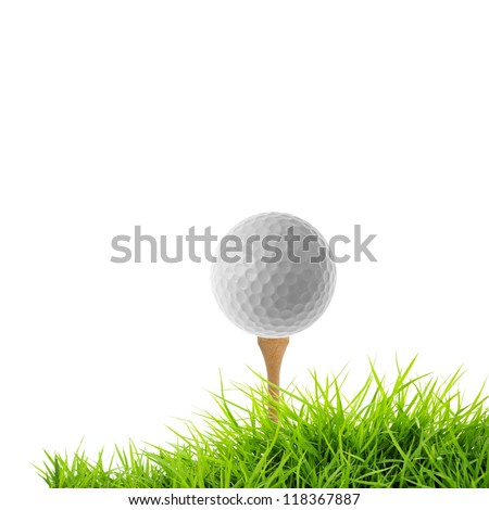 golf tee off isolated on white
