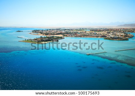 Golf von Sues El Gouna - bird's-eye view