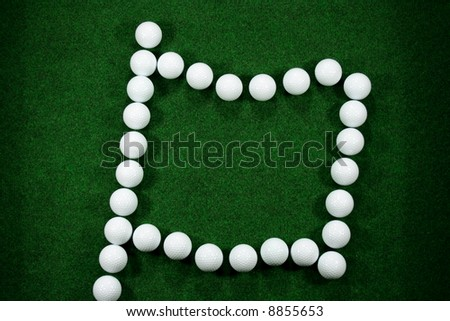 Golfballs as a flag could be used as message area