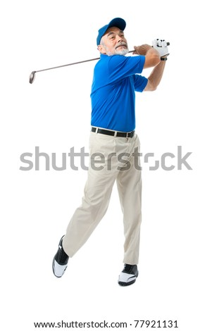 golfer isolated on a white background