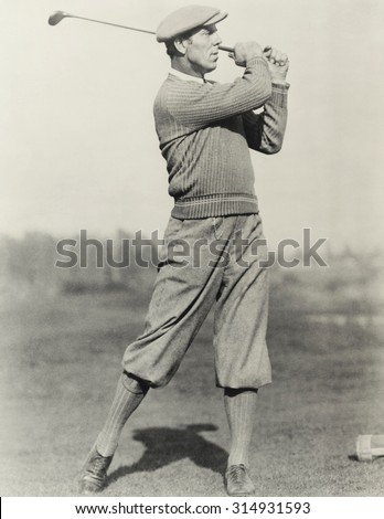 golfer's stance
