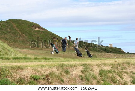 Golfers at a golf course