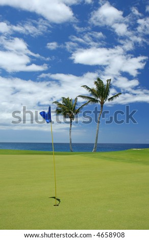 Golfing the at the beach