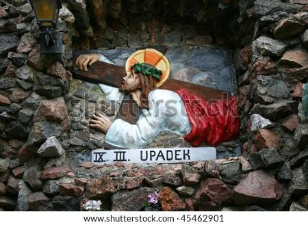 Golgotha in Lichen Sanctuary Poland. Jesus.