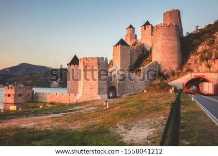 Golubac Fortress. Southern and Eastern Serbia, Belgrade, Serbia. #1558041212