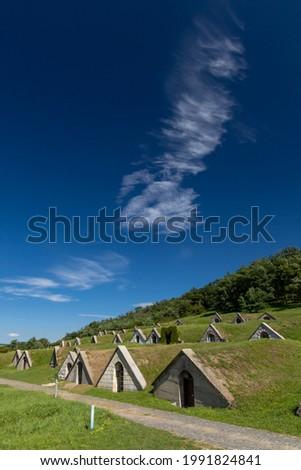 Gombos-hegyi pincesor in Hercegkut, UNESCO site, Great Plain, North Hungary Stock fotó ©