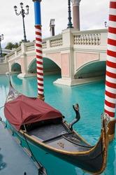 Gondola at Venetian Hotel in Las Vegas