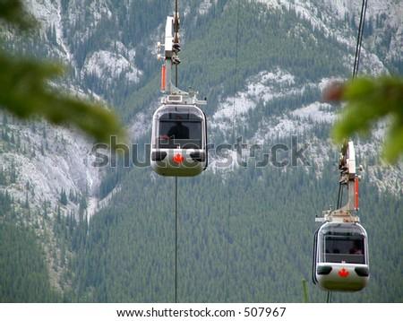 Gondola in Banff, Canada.