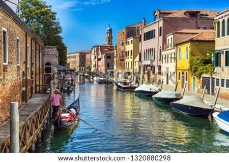 Gondola in Venice, Italy , Europe #1320880298