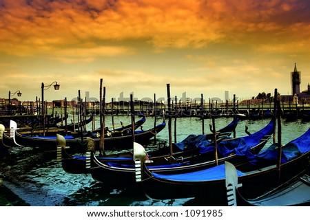 Gondola Parking, Venice - Italy